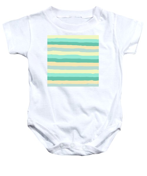 lumpy or bumpy lines abstract and summer colorful - QAB271 Baby Onesie
