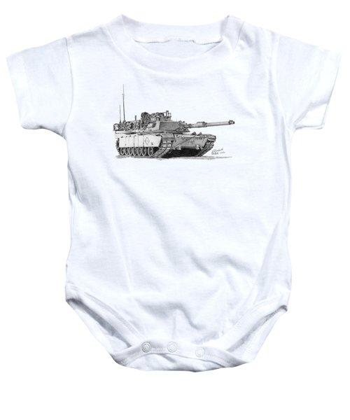 M1a1 Battalion Master Gunner Tank Baby Onesie