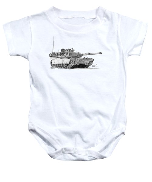 M1a1 D Company Xo Tank Baby Onesie