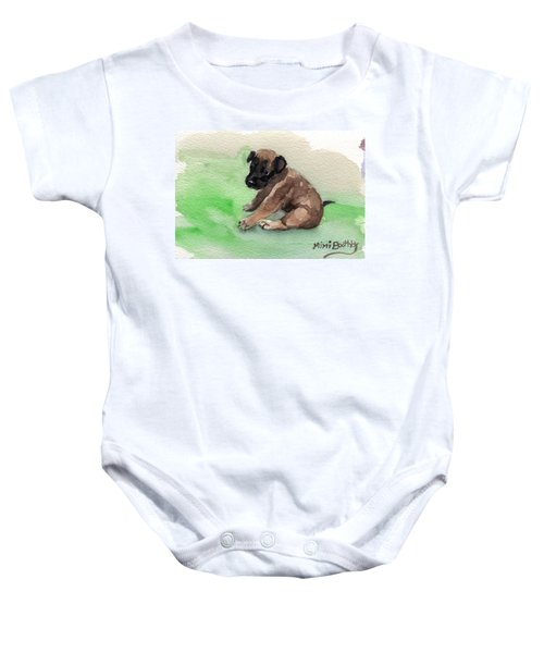 Malinois Pup 3 Baby Onesie