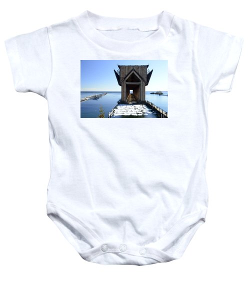 Marquette Ore Dock Cathedral Baby Onesie