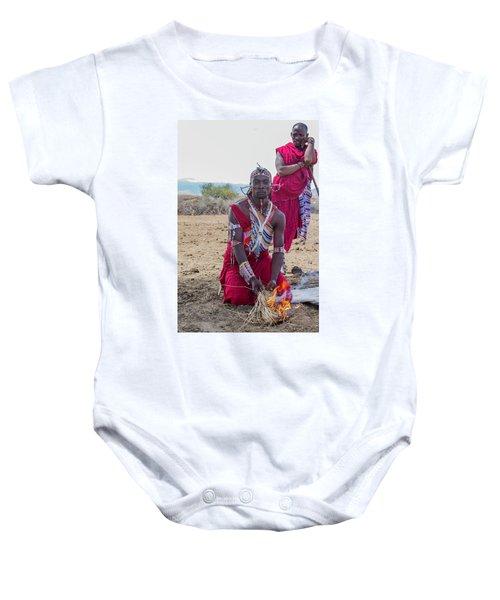 Maasai Warrior Baby Onesie