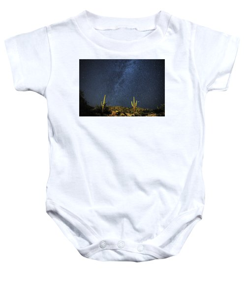 Milky Way And Cactus Baby Onesie