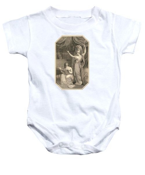 Minerva Directing Study To The  Attainment Of Universal Knowledge Baby Onesie