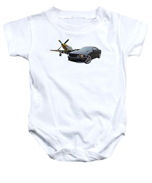 Mission Accomplished - P51 With Saleen Mustang Baby Onesie