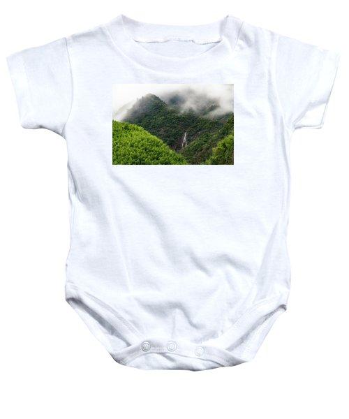 Misty Mountain Waterfall Baby Onesie