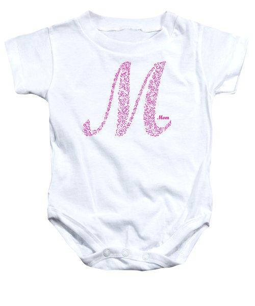 Mom Floral Pink White Baby Onesie