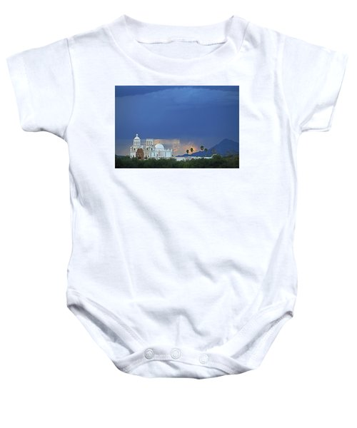 Monsoon Skies Over The Mission Baby Onesie