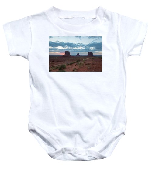 Monument Valley Before Sunrise Baby Onesie