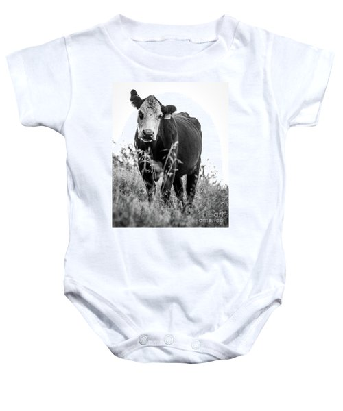 Baby Onesie featuring the photograph Moo by Vincent Bonafede