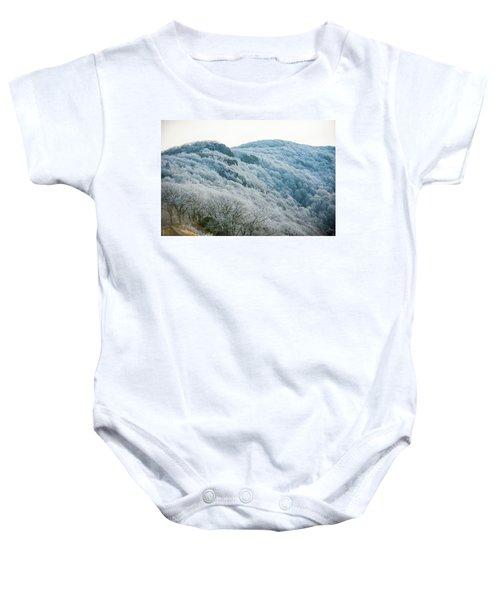 Mountainside Hoarfrost Baby Onesie