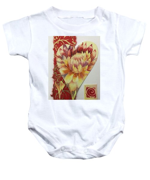My Valentine Three Baby Onesie