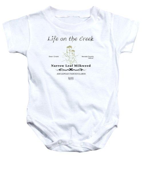 Narrow Leaf Milkweed Baby Onesie