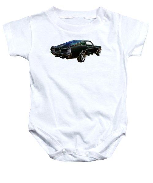 Neon Mustang Fastback 1967 Baby Onesie