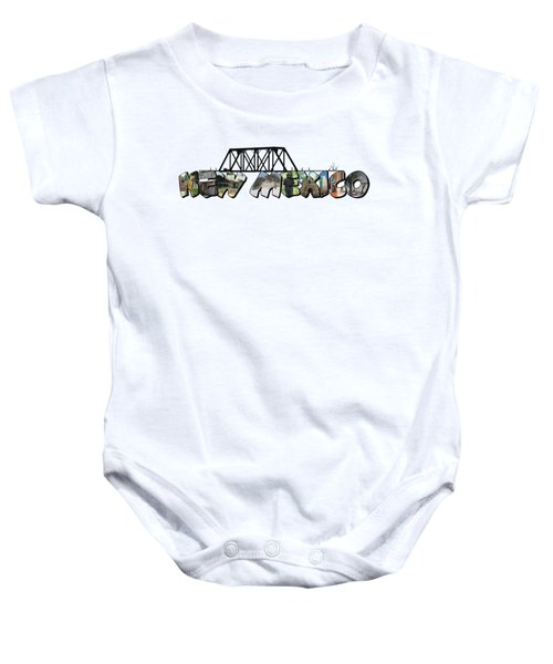 New Mexico Big Letter Baby Onesie