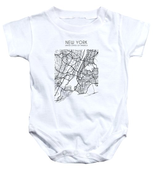 New York City Street Map Baby Onesie
