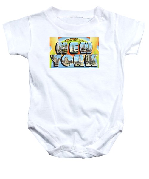 New York Greetings - Version  3 Baby Onesie