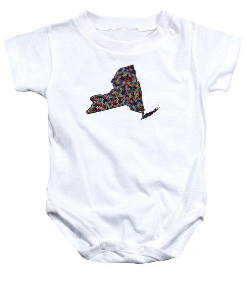 New York Map - 1 Baby Onesie