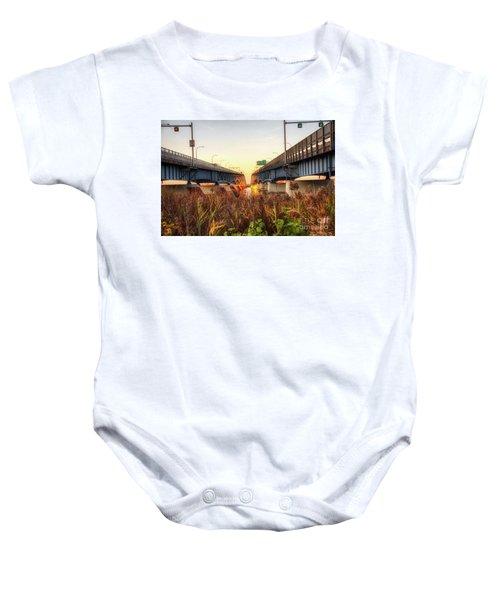 North Grand Island Bridges Baby Onesie