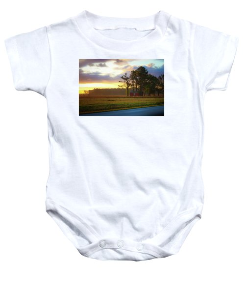 Onc Open Road Sunrise Baby Onesie