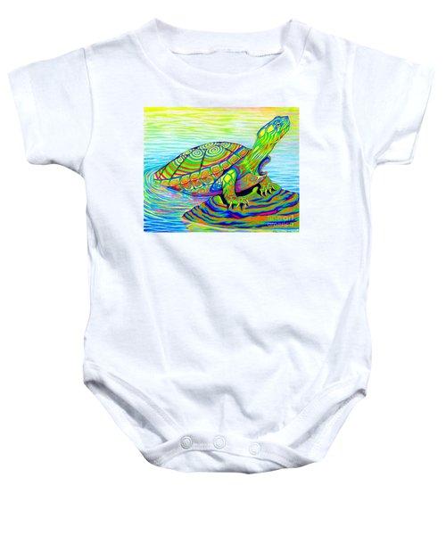 Painted Turtle Baby Onesie