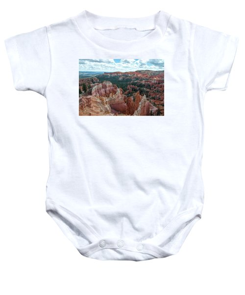 Panorama  From The Rim, Bryce Canyon  Baby Onesie