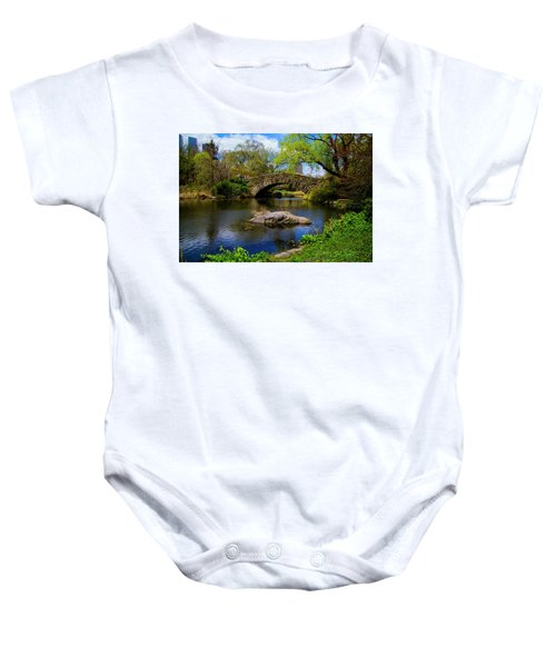 Park Bridge2 Baby Onesie
