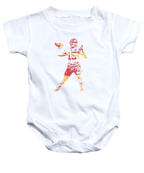 Patrick Mahomes Kansas City Chiefs Apparel T Shirt Pixel Art 1 Baby Onesie