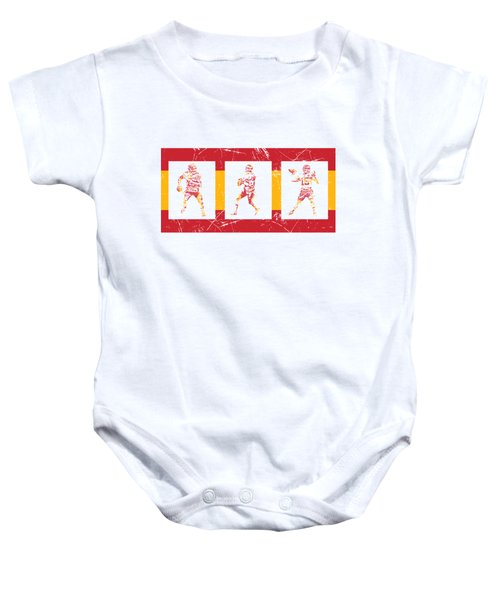 Patrick Mahomes Kansas City Chiefs Pixel Art T Shirt 10 Baby Onesie