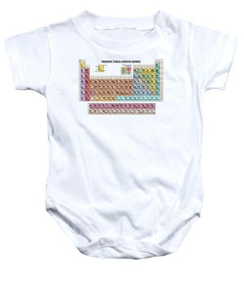 Periodic Table Of Movie Genres Baby Onesie
