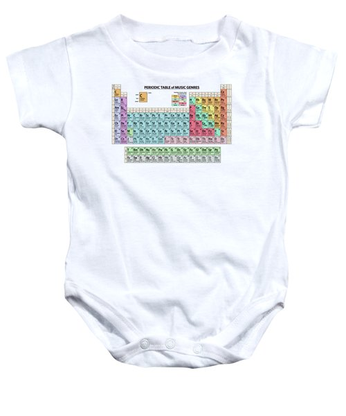 Periodic Table Of Music Genres Baby Onesie