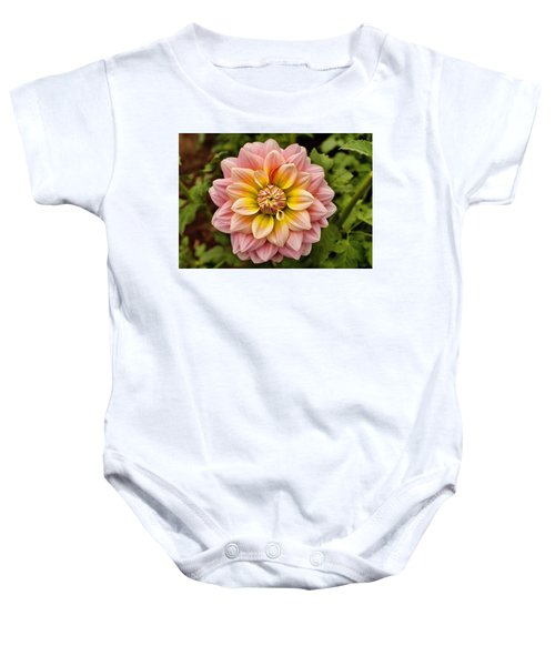 Pink And Yellow Baby Onesie