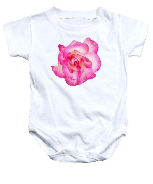 Pink Halo Rose Baby Onesie