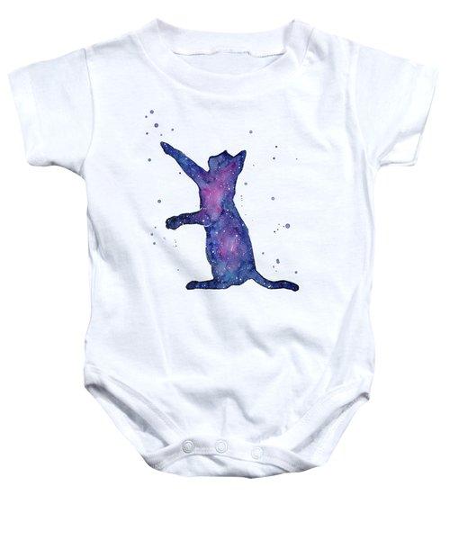 Playful Galactic Cat Baby Onesie