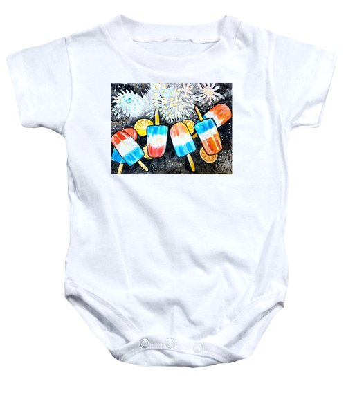 Popsicles And Fireworks Baby Onesie