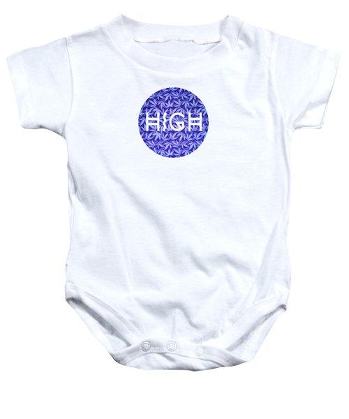Purple Haze Cannabis Hemp 420 Marijuana  Pattern Baby Onesie