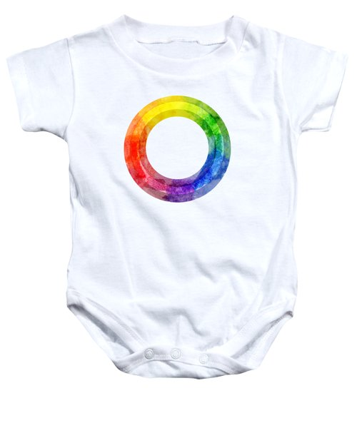 Rainbow Color Wheel Baby Onesie