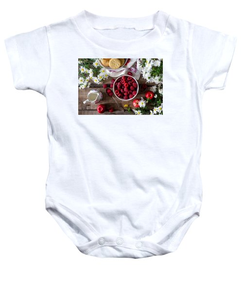 Raspberry Breakfast Baby Onesie