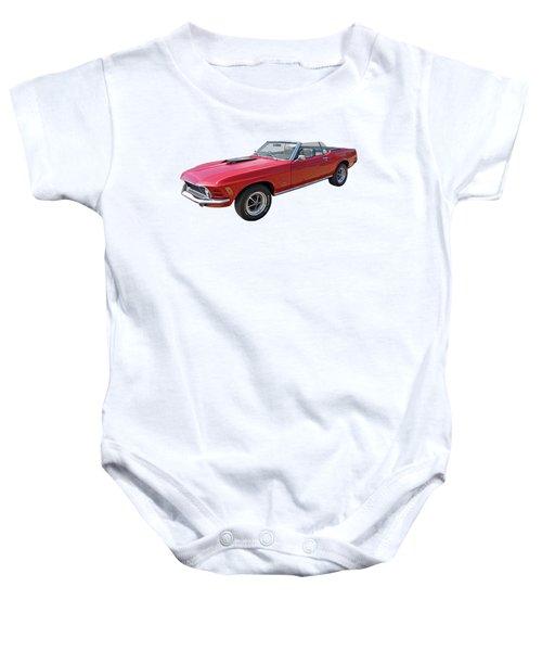 Red 1970 Mach 1 Mustang 351 Cleveland Baby Onesie