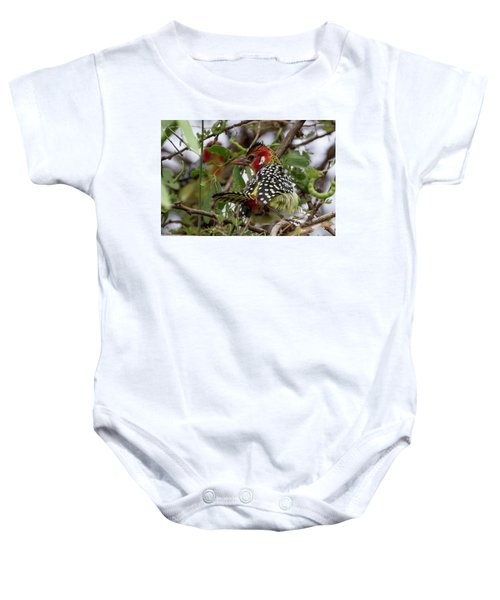 Red-and-yellow Barbet Baby Onesie