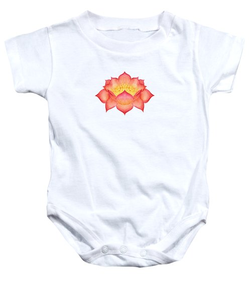 Red Lotus Baby Onesie