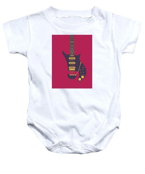 Red Special Guitar - Burgundy Baby Onesie