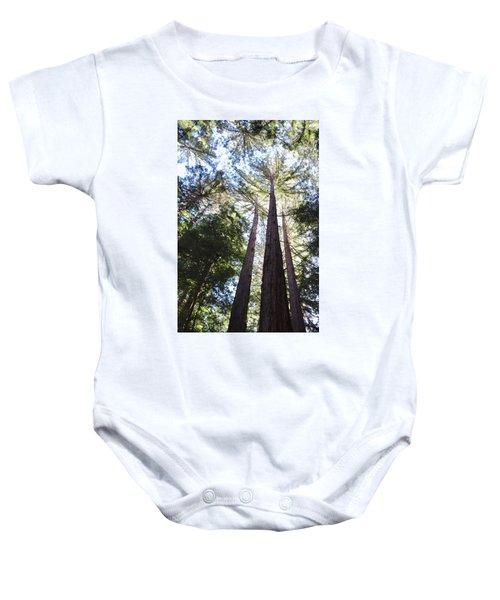 Redwoods, Blue Sky Baby Onesie