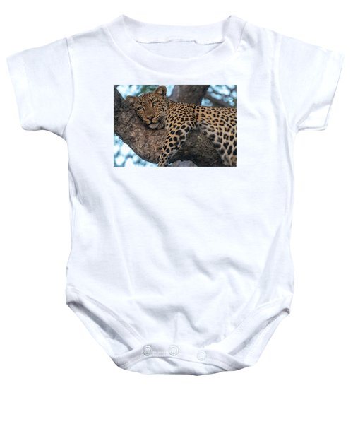 Relaxed Leopard Baby Onesie