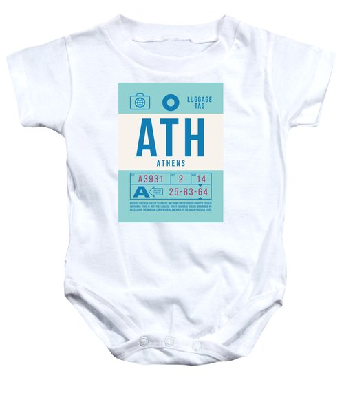 Retro Airline Luggage Tag 2.0 - Ath Athens Greece Baby Onesie