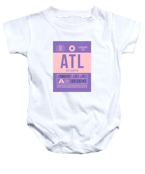 Retro Airline Luggage Tag 2.0 - Atl Atlanta United States Baby Onesie
