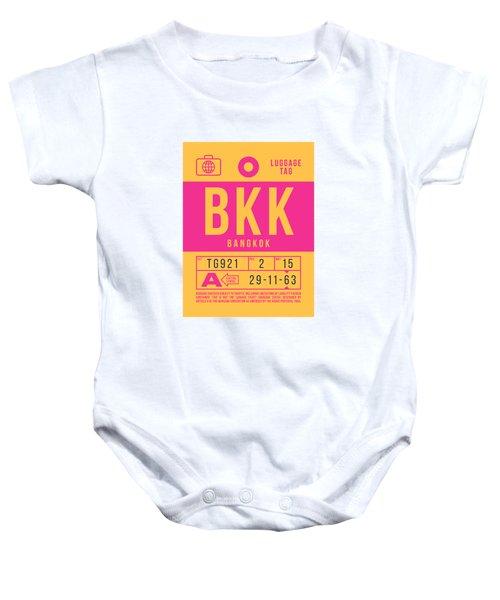 Retro Airline Luggage Tag 2.0 - Bkk Bangkok Thailand Baby Onesie