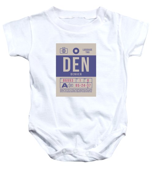 Retro Airline Luggage Tag 2.0 - Den Denver United States Baby Onesie