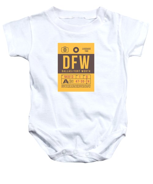 Retro Airline Luggage Tag 2.0 - Dfw Dallas Fort Worth United States Baby Onesie