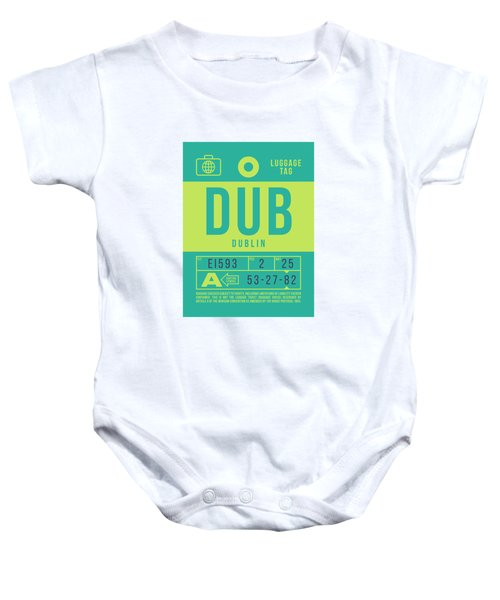 Retro Airline Luggage Tag 2.0 - Dub Dublin Ireland Baby Onesie